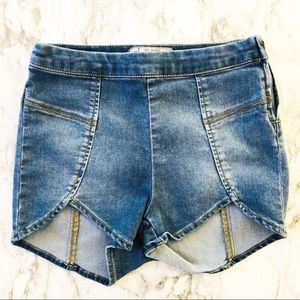 Free People High Rise denim shorts sz 24